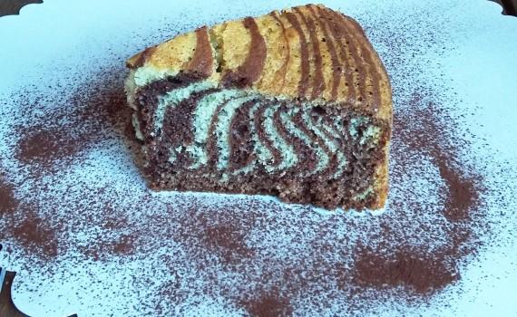fetta di torta zebrata