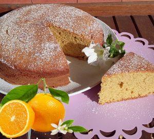 dolce all'arancia con farina di farro- ricetta