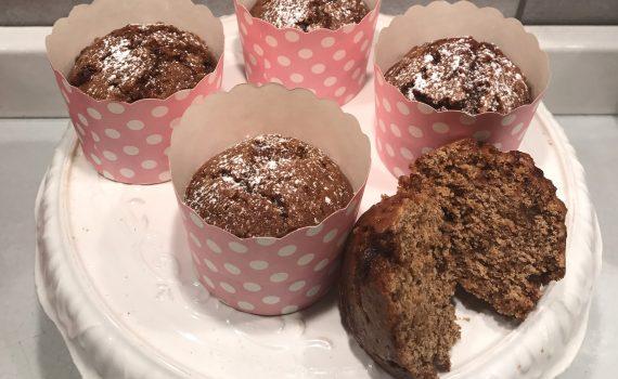 muffin vegani con crusca d'avena