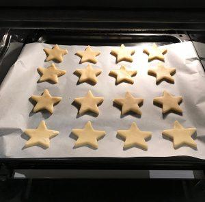 frollini al burro a forma di stella