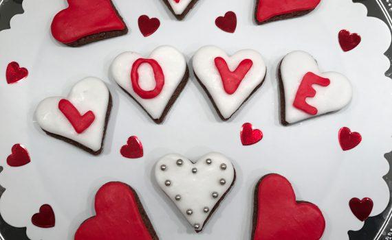biscotti a cuore per s.valentino