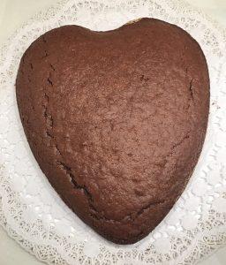 cuore al cioccolato per s.valentino