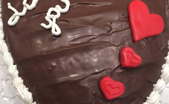 cuore al cioccolato e panna per S.Valentino