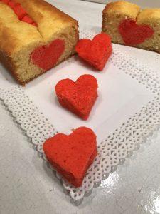 plumcake con sorpresa per s.valentino