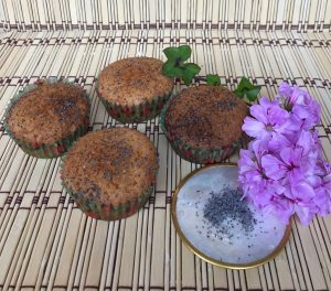 muffin all'arancia e semi di papavero