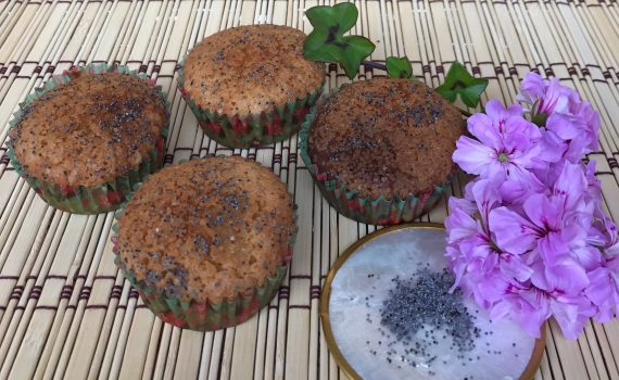 muffin all'arancia e semi di papavero