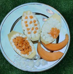dessert melone e cocco