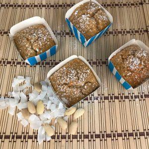 muffin mandorle e cocco dall'alto
