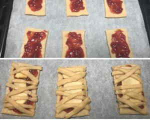 procedimento biscotti mummie di Halloween