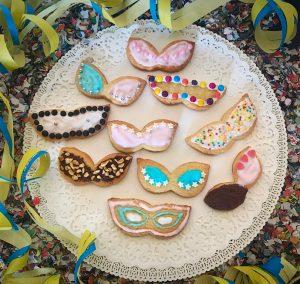 biscotti mascherine di carnevale