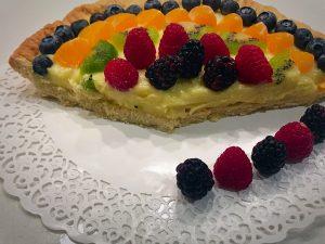 crostata alla frutta fetta