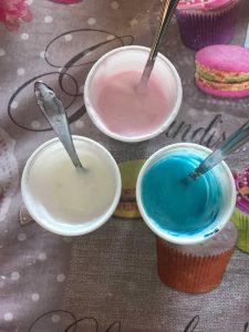 glassa colorata