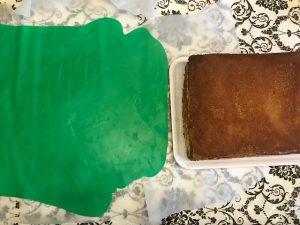 copertua pasta di zucchero torta minecraft