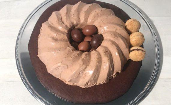 mousse al cioccolato con biscotto croccante