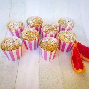 muffin al pompelmo rosa