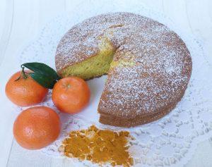 dolce al mandarino e curcuma