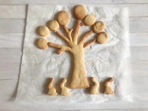 biscotto a forma di alberello di Pasqua